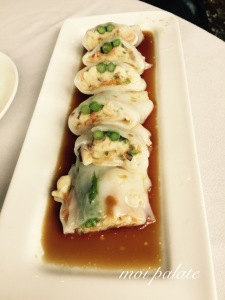 chicken and asparagus cheung fun